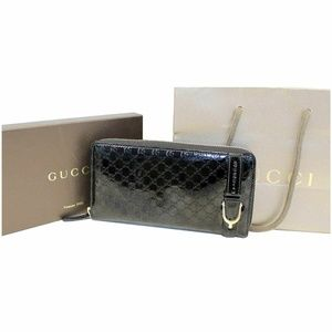 GUCCI Nice Microguccissima Patent Leather Wallet